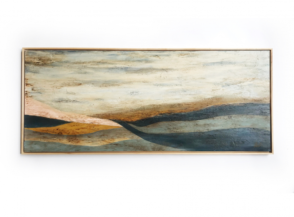 """Kobie Moore Signed """"Rolling Hills"""" 25x59 Acrylic on Wood at PristineAuction.com"""