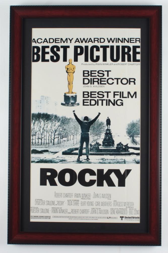 """Rocky"" 14.5x22.5 Custom Framed Movie Poster Display at PristineAuction.com"