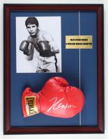 Julio Cesar Chavez Signed 17x22 Custom Framed Everlast Boxing Glove Display (PSA COA) at PristineAuction.com