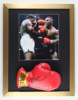 Mike Tyson Signed 17x22 Custom Framed Everlast Boxing Glove Display (PSA COA) at PristineAuction.com