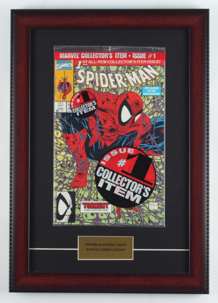 "1990 ""The Amazing Spider-Man"" 12x17 Custom Framed First Issue Marvel Comic Book Display at PristineAuction.com"