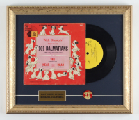 "Vintage Original Disney ""101 Dalmations"" 13x15 Custom Framed Vinyl LP Record Display with Movie Pin at PristineAuction.com"