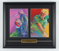 "LeRoy Neiman ""Arnold Palmer & Jack Nicklaus"" 14x16 Custom Framed Print Display at PristineAuction.com"