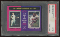 Mickey Mantle / Hank Aaron 1975 Topps #195 MVP (PSA EX 5) at PristineAuction.com