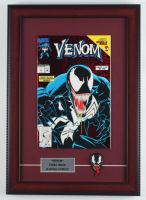 "1992 ""Venom"" Issue #1 Marvel 12x17 Custom Framed First Issue Comic Book Display with Venom Pin at PristineAuction.com"