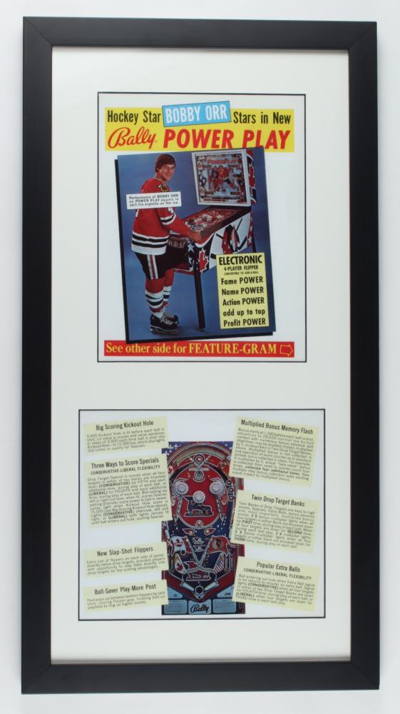 "Bobby Orr Black Hawks ""The Game"" 14.5x27 Custom Framed Print Display at PristineAuction.com"