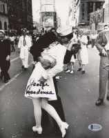 "George Mendonsa Signed ""VJ Day: The Kissing Sailor"" 8x10 Photo (Beckett COA) at PristineAuction.com"