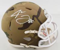Jarvis Landry Signed Camo Alternate Speed Mini Helmet (Beckett COA) at PristineAuction.com