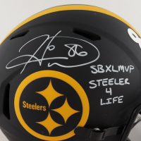 """Hines Ward Signed Steelers Full-Size Authentic On-Field Eclipse Alternate Speed Helmet Inscribed """"SB XL MVP"""" & """"Steeler 4 Life"""" (Beckett Hologram) (See Description) at PristineAuction.com"""
