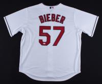 Shane Bieber Signed Indians Majestic Jersey (JSA COA) at PristineAuction.com