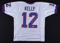 "Jim Kelly Signed Jersey Inscribed "" Machine Gun"" (JSA COA) at PristineAuction.com"