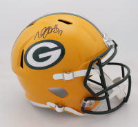 Davante Adams Signed Packers Full-Size Speed Helmet (Beckett COA) at PristineAuction.com
