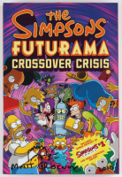"""Matt Groening Signed """"The Simpsons / Futurama Crossover Crisis"""" Hardcover Book Inscribed """"2010"""" (Beckett LOA) at PristineAuction.com"""