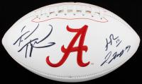 Tua Tagovailoa, Henry Ruggs III & Jerry Jeudy Signed Alabama Crimson Tide Logo Football (Beckett Hologram) at PristineAuction.com