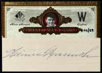 Heinie Manush 2006 SP Legendary Cuts When It Was A Game Cuts #HM /29 at PristineAuction.com