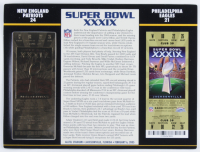Super Bowl XXXIX Commemorative Score Card with 22kt Gold Ticket at PristineAuction.com