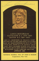 Lou Boudreau Signed Hall of Fame Plaque Postcard (JSA COA) at PristineAuction.com