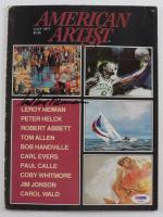 LeRoy Neiman Signed 1977 American Artist Magazine (PSA COA) (See Description) at PristineAuction.com