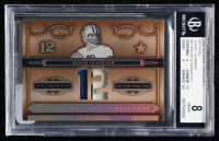 Roger Staubach 2006 Playoff National Treasures Material Jersey Numbers #92 (BGS 8) at PristineAuction.com