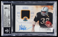 Marcus Allen 2013 Panini National Treasures Hall of Fame 50th Anniversary Signature Materials #37 (BGS 9) at PristineAuction.com