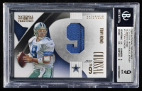 Tony Romo 2009 Playoff National Treasures Colossal Materials Jersey Numbers Prime #11 (BGS 9) at PristineAuction.com