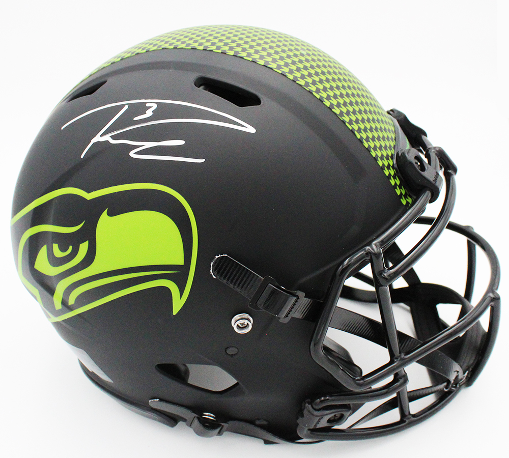 Russell Wilson Signed Seahawks Full-Size Authentic On-Field Eclipse Alternate Speed Helmet (Fanatics Hologram) at PristineAuction.com