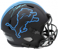 D'Andre Swift Signed Lions Full-Size Authentic On-Field Eclipse Alternate Speed Helmet (Fanatics Hologram) at PristineAuction.com