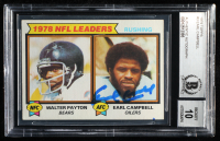 Earl Campbell Signed 1979 Topps #3 Rushing Leaders Earl Campbell / Walter Payton (BGS Encapsulated) at PristineAuction.com