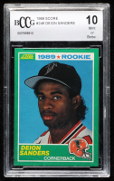 Deion Sanders 1989 Score #246 RC (BCCG 10) at PristineAuction.com