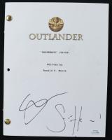 "Sam Heugan Signed ""Outlander"" Full Script (AutographCOA COA) (See Description) at PristineAuction.com"