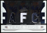 Tom Brady / Randy Moss / Wes Welker 2008 Absolute Memorabilia Team Trios Materials AFC / NFC #2 at PristineAuction.com