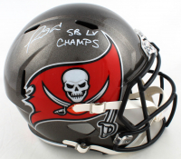 "Ronald Jones II Signed Buccaneers Full-Size Speed Helmet Inscribed ""SB LV Champs"" (Beckett COA) at PristineAuction.com"