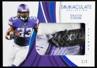 Dalvin Cook 2018 Immaculate Collection Gloves Laundry Tag #46 at PristineAuction.com