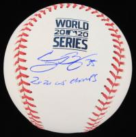 "Cody Bellinger Signed 2020 World Series Logo Baseball Inscribed ""2020 WS Champs"" (MLB Hologram) at PristineAuction.com"