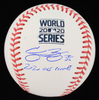 "Cody Bellinger Signed 2020 World Series Baseball Inscribed ""2020 WS Champs"" (MLB Hologram) at PristineAuction.com"
