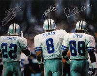 Emmitt Smith, Michael Irvin, & Troy Aikman Signed Cowboys 16x20 Photo (Beckett COA) at PristineAuction.com