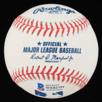 "Greg Maddux Signed OML Baseball Inscribed ""92-95 Cy"" (Beckett COA) at PristineAuction.com"