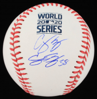 Cody Bellinger & Corey Seager Signed 2020 World Series Logo Baseball (MLB Hologram) at PristineAuction.com
