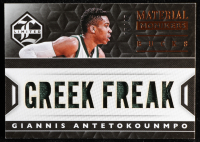 Giannis Antetokounmpo 2015-16 Limited Material Monikers #3 at PristineAuction.com