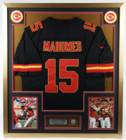 Patrick Mahomes Chiefs 32x36 Custom Framed Jersey Display with Super Bowl LIV Pin at PristineAuction.com