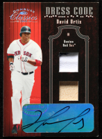 David Ortiz 2005 Donruss Classics Dress Code Signature Materials #7 Bat-Jersey at PristineAuction.com