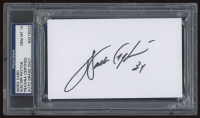 Walter Payton Signed 3x5 Index Card (PSA Encapsulated) at PristineAuction.com