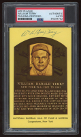 Bill Terry Signed Gold HOF Plaque Card (PSA Encapsulated) at PristineAuction.com