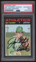 "Jim ""Catfish"" Hunter Signed 1971 Topps #45 (PSA Encapsulated) at PristineAuction.com"