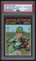 "Jim ""Catfish"" Hunter Signed 1971 Topps #45 (PSA Encapsulated) at PristineAuction.com"
