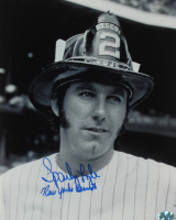 """Sparky Lyle Signed Yankees 8x10 Photo Inscribed """"New York's Bravest"""" (YSMS COA) at PristineAuction.com"""