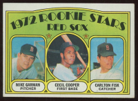 Mike Garman / Cecil Cooper / Carlton Fisk  1972 Topps #79 Rookie Stars RC at PristineAuction.com