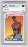 Chipper Jones 1991 Score #671 RC (BCCG 10) at PristineAuction.com