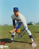 "Jon Matlack Signed Mets 8x10 Photo Inscribed ""1972 N.L. R.O.Y."" (YSMS COA) at PristineAuction.com"