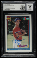 Chipper Jones Signed 1991 Topps #333 RC (BGS Encapsulated) at PristineAuction.com